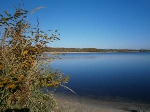 """Foto: Der Erikasee, nördlich von Lauta gelegen, ist die ehemalige Grube """"Erika"""". (Foto: K. Häußer-Beciri)"""
