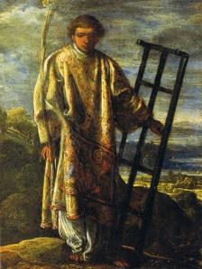 Der heilige Laurentius; Bild: Adam Elsheimer [Public domain], via Wikimedia Commons