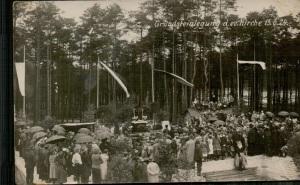 Grundsteinlegung der ev. Kirche in Lauta am 15.6.1924 (Foto: Kirchenarchiv Lauta-Dorf)